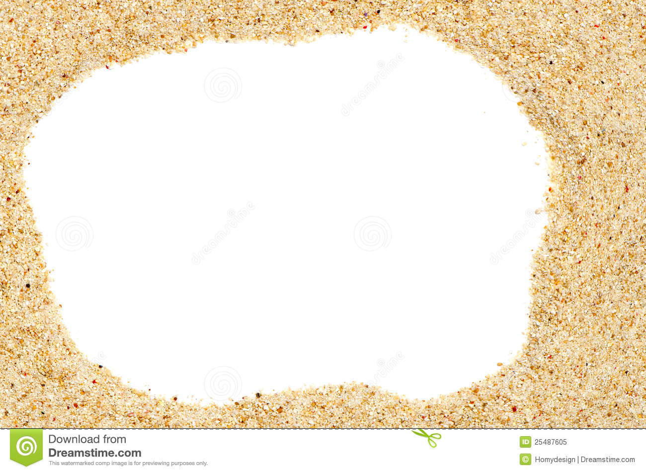 Beach sand frame stock image. Image of picture, data ...