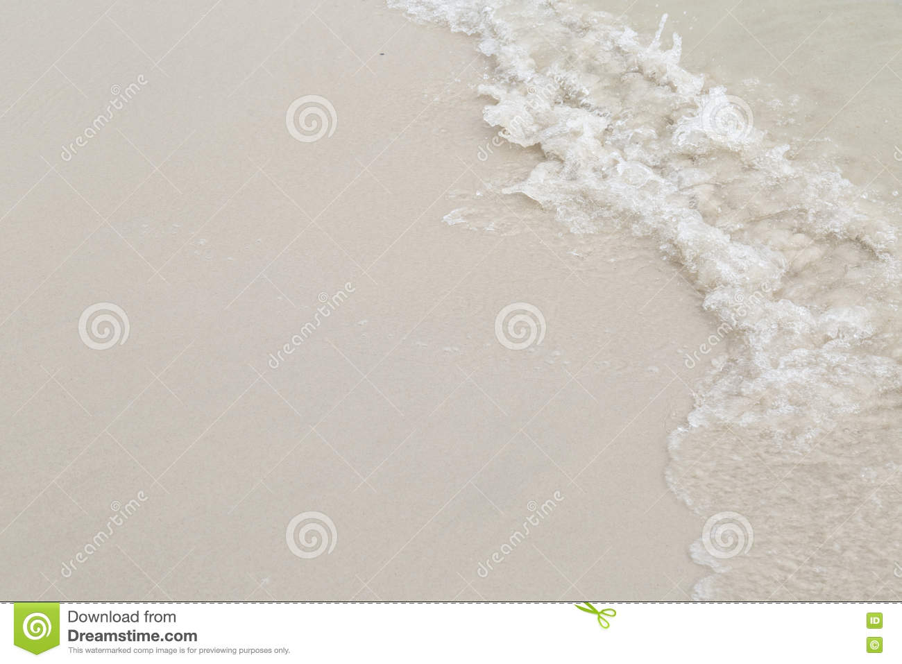 Beach With Sand And Water For Background