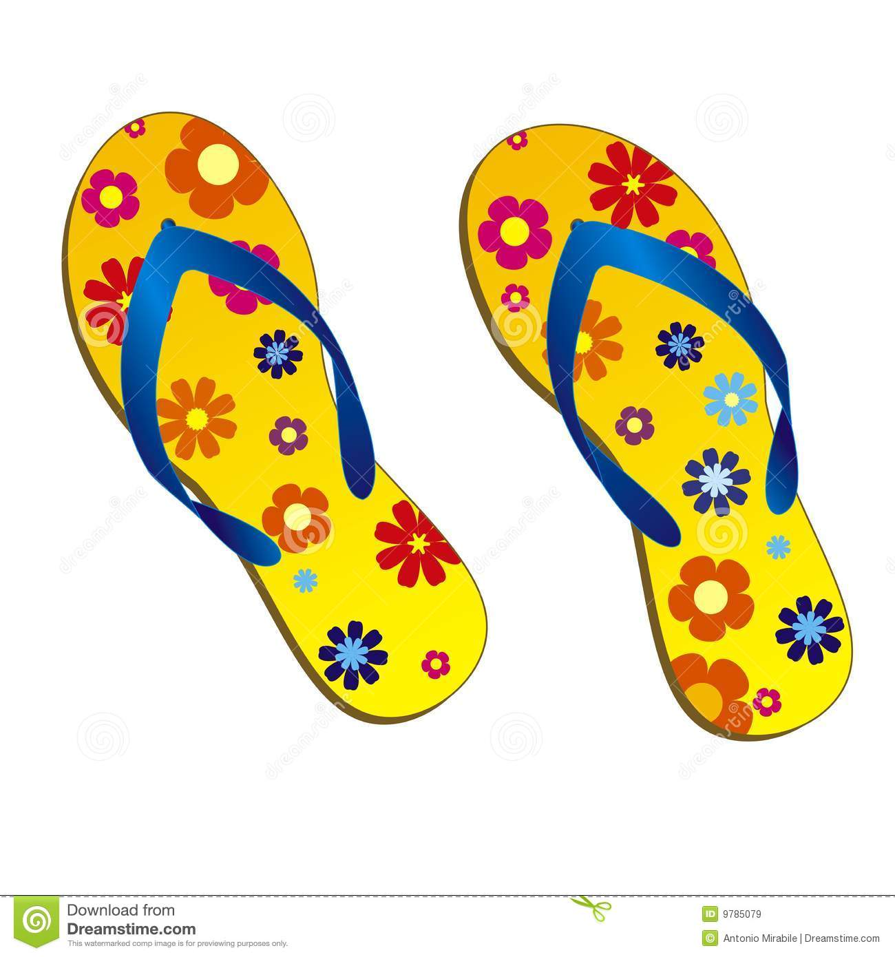 Beach Sandals Royalty Free Stock Images Image 9785079