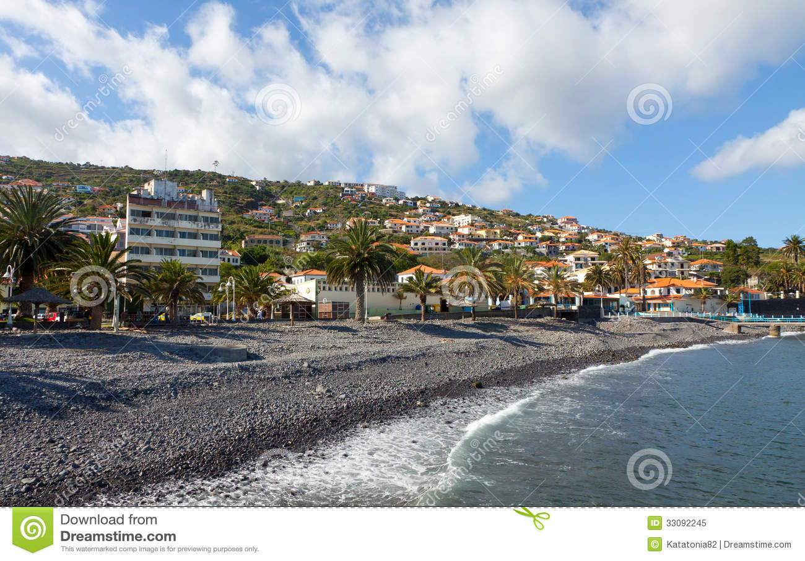 Beach In Santa Cruz Madeira Island Portugal Royalty Free