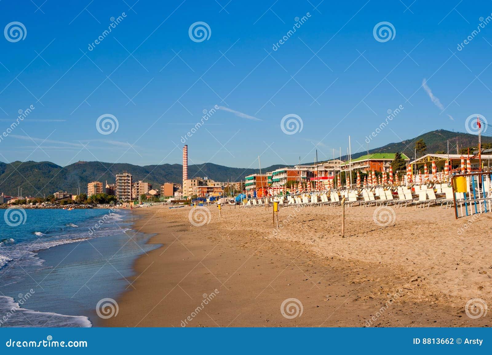 Beach in Savona. Italy