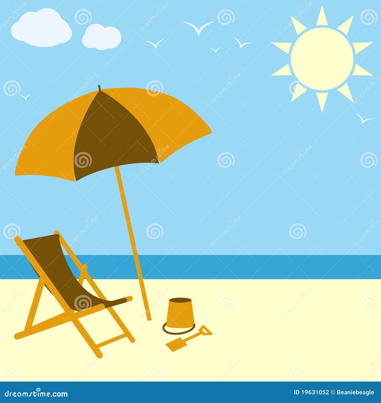 Beach Scene stock vector. Illustration of drawing ...