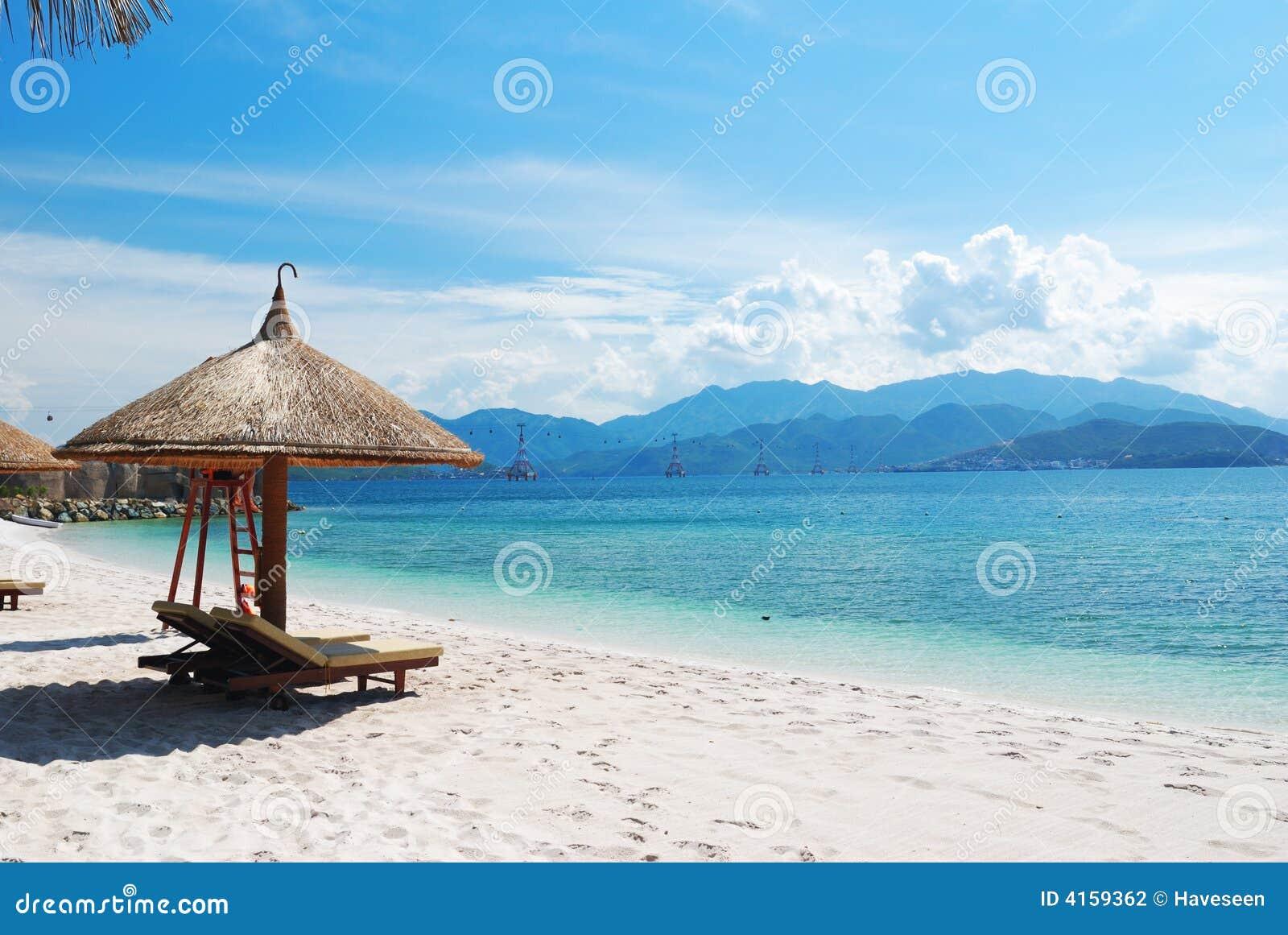 Beach Scene Stock Photography Image 4159362