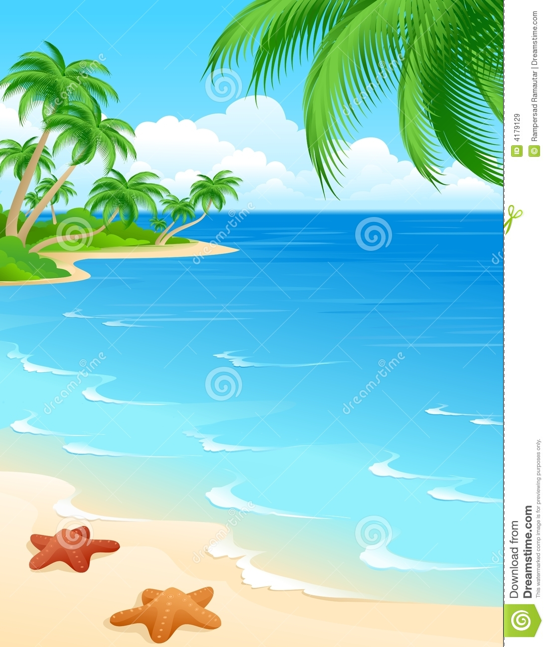 beach scene stock illustration illustration of peaceful 4179129 rh dreamstime com beach scene clipart black and white beach scene clip art free