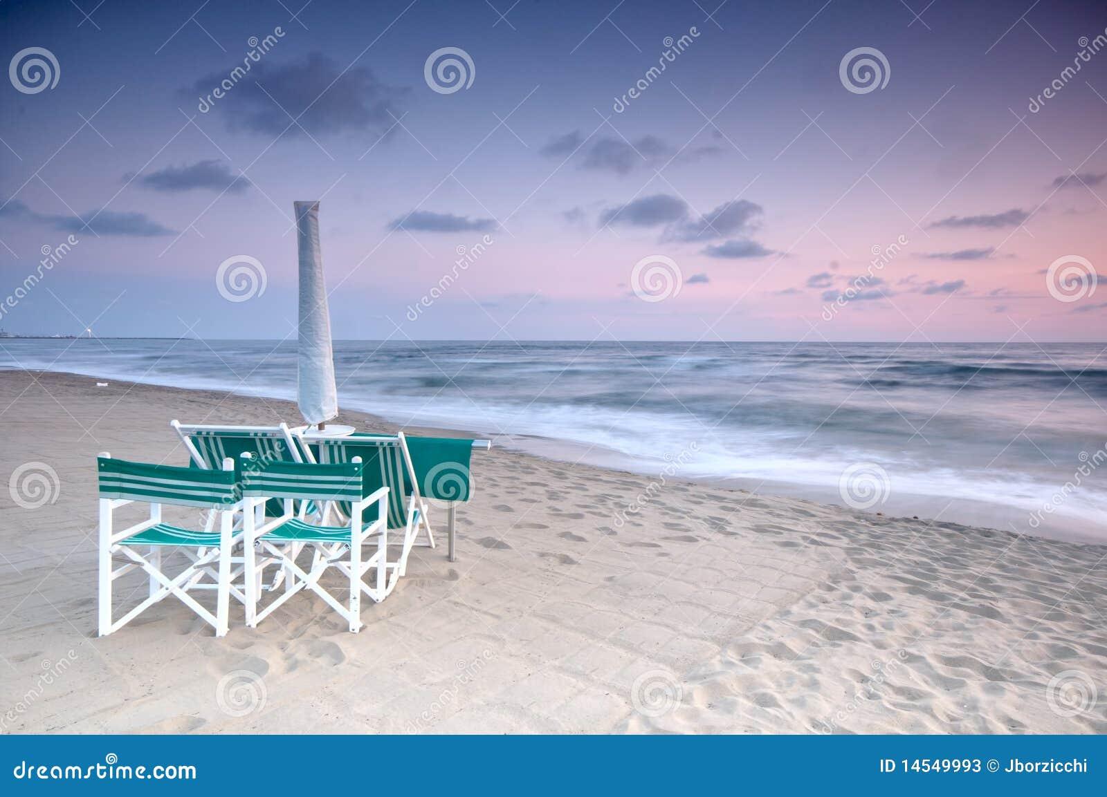 Beach scenic at sunset