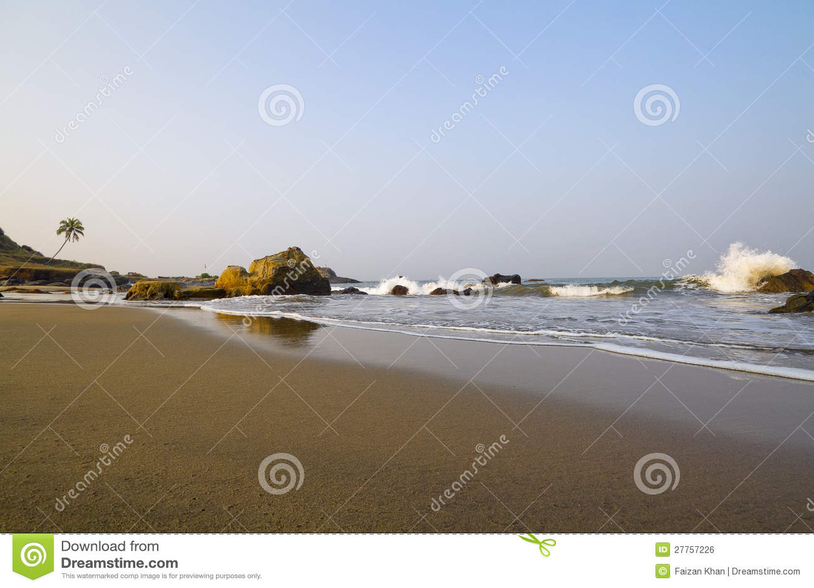 Beach and Sea Waves in Goa