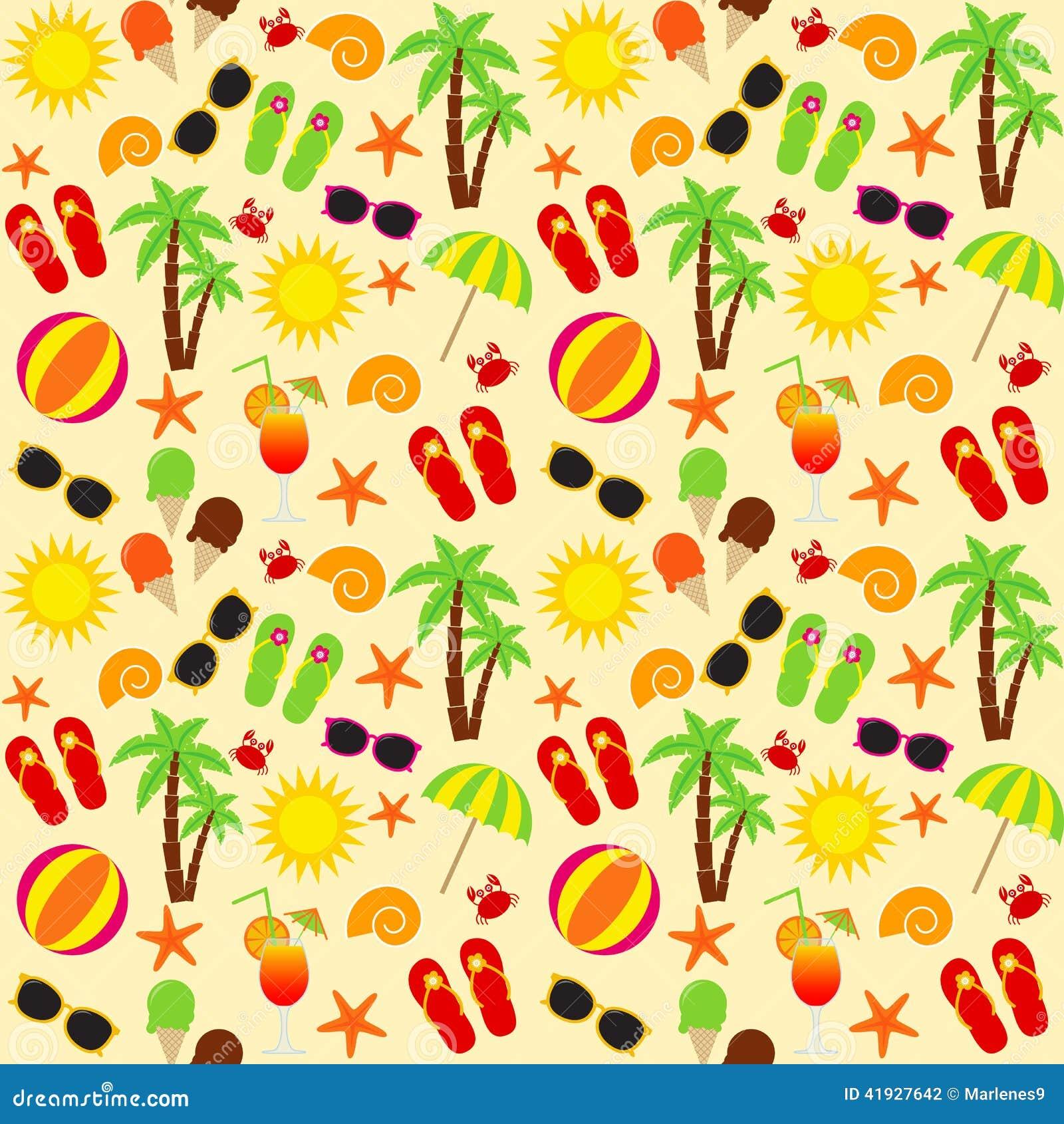 380bcf685f242 Beach seamless pattern stock vector. Illustration of starfish - 41927642