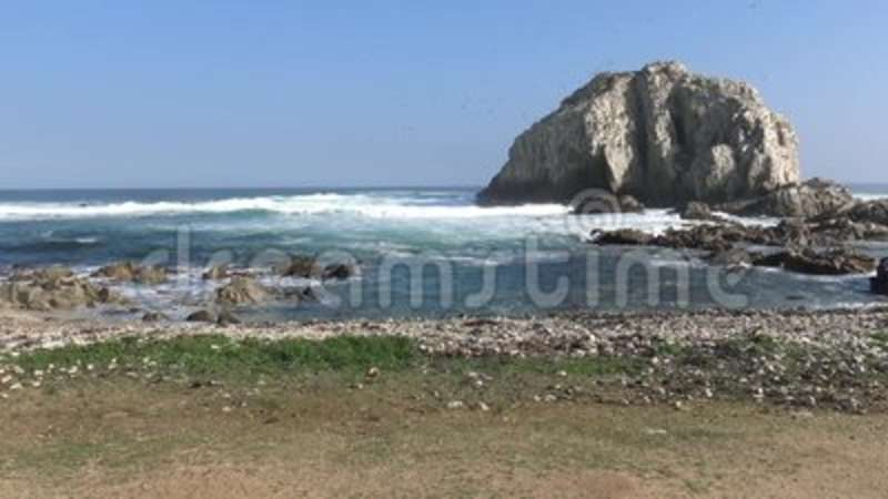 Landscape, Beach and seaside. Beach and seaside in Chile stock footage