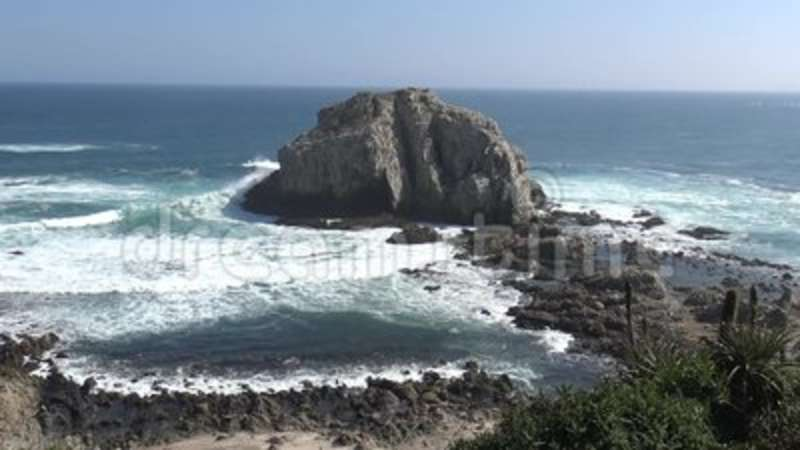 Landscape, Beach and seaside. Beach and seaside in Chile stock video footage