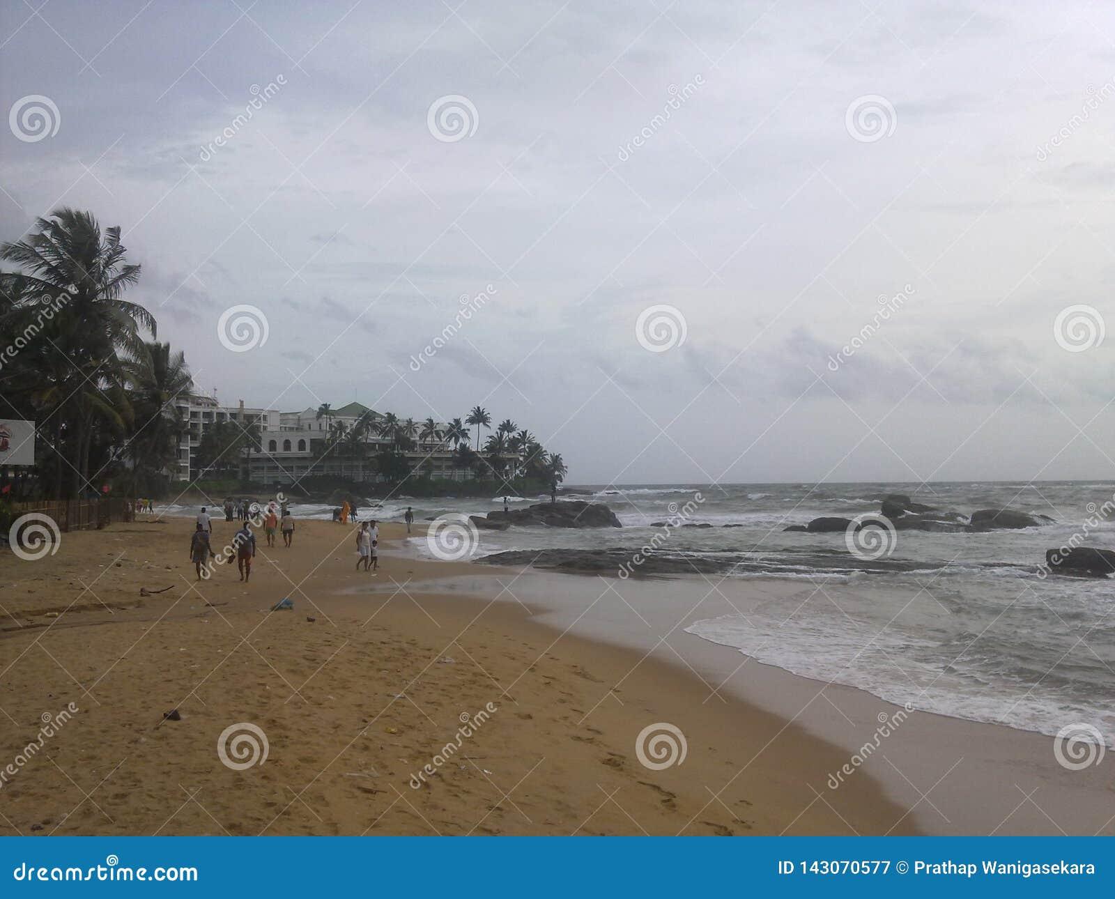 Mount lavinia beach in sri lanka