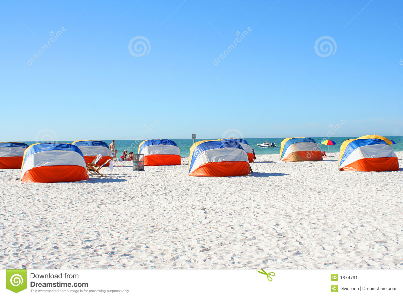 Download Beach shelters stock image. Image of gulf, relaxation - 1874791