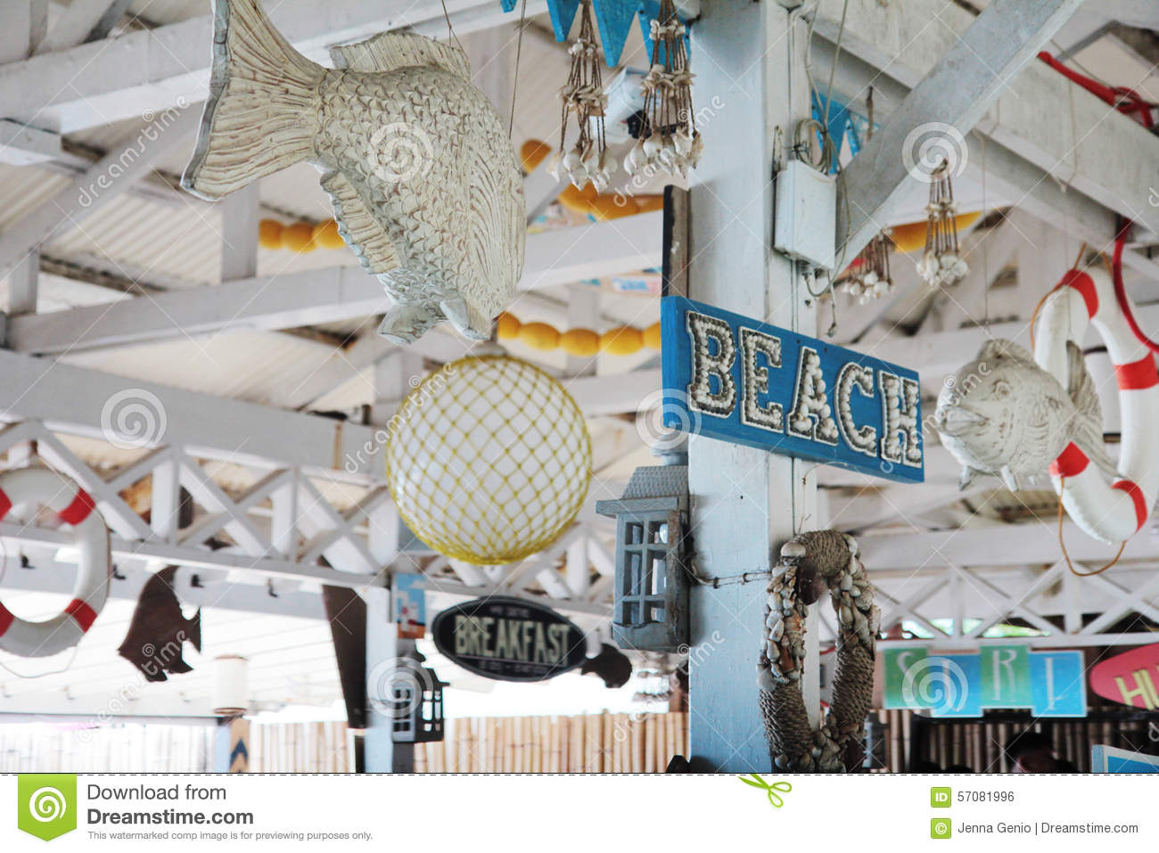 Beach Sign and Decor stock photo. Image of philippines - 57081996