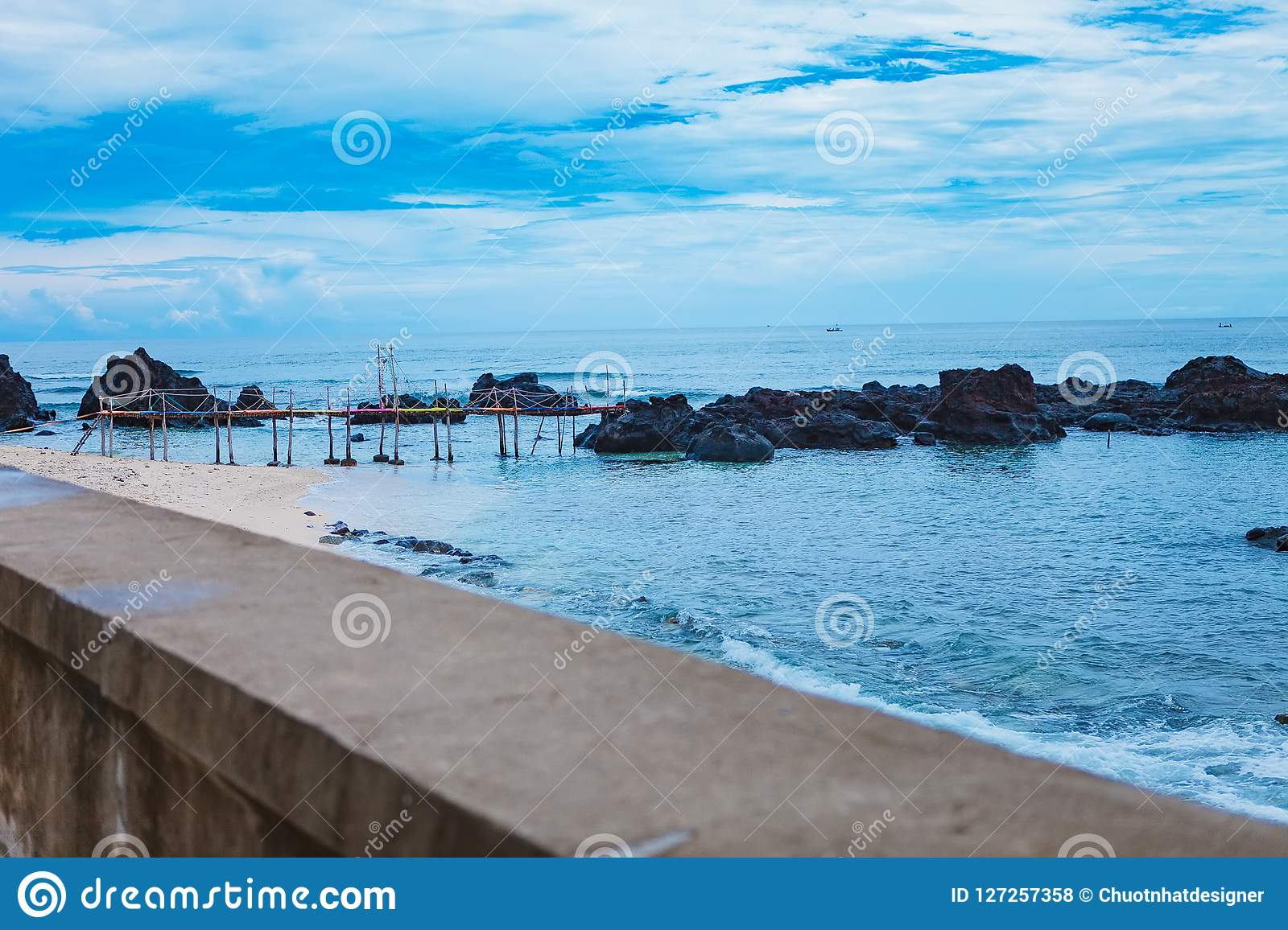 Beach On Small Island In Ly Son Quang Ngai Vietnam Stock Photo Image Of Garland Cityscape 127257358