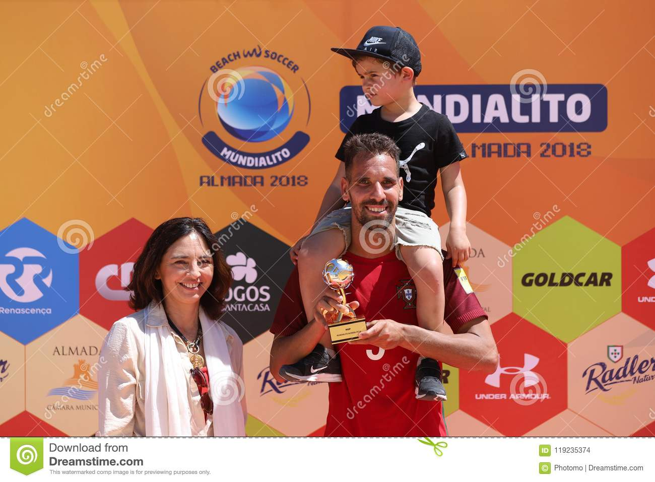 beach soccer mundialito mvp award editorial stock image image of