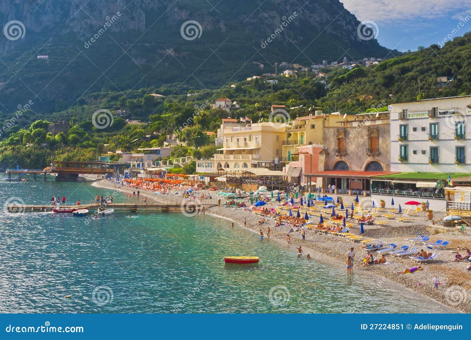 Beach Amalfi Coast Italy Editorial Photo Image Of Amalfi