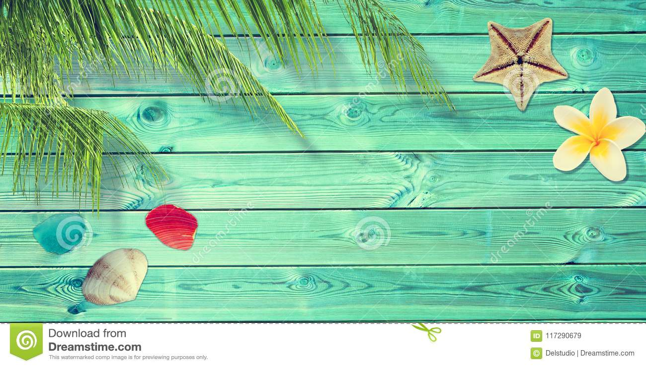 5c37fdce2 Beach And Summer Background With Blue Planks