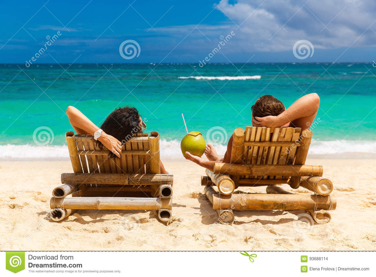 Download Beach Summer Couple On Island Vacation Holiday Relax In The Sun Stock Photo - Image of couple, lifestyle: 93688114