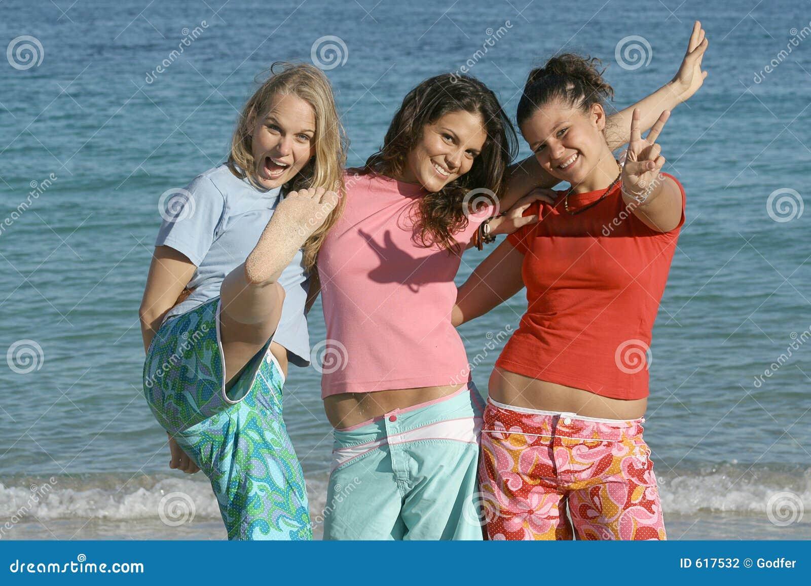 beach summer holiday group