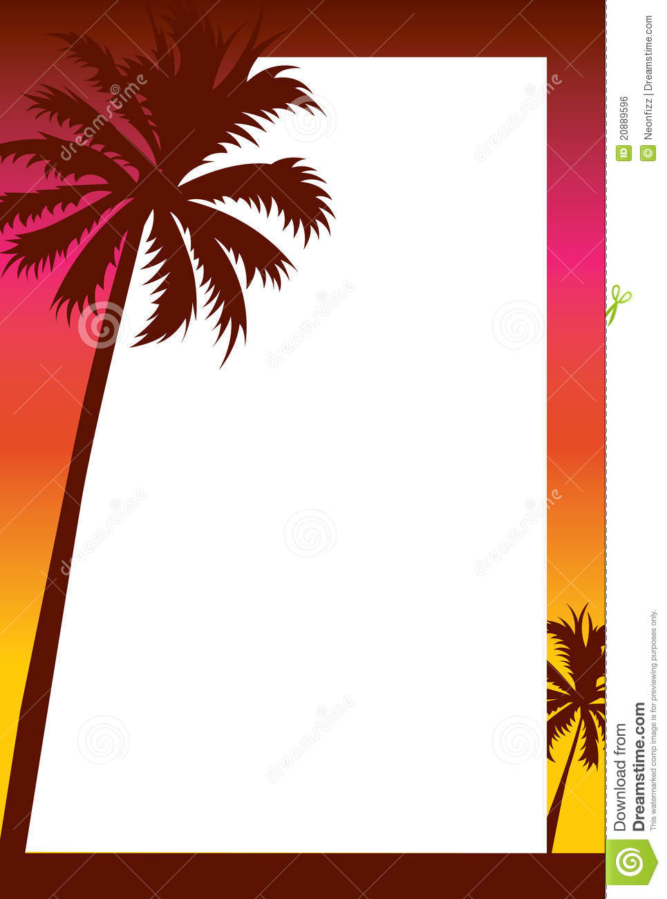 Beach Sunset Invitation Border
