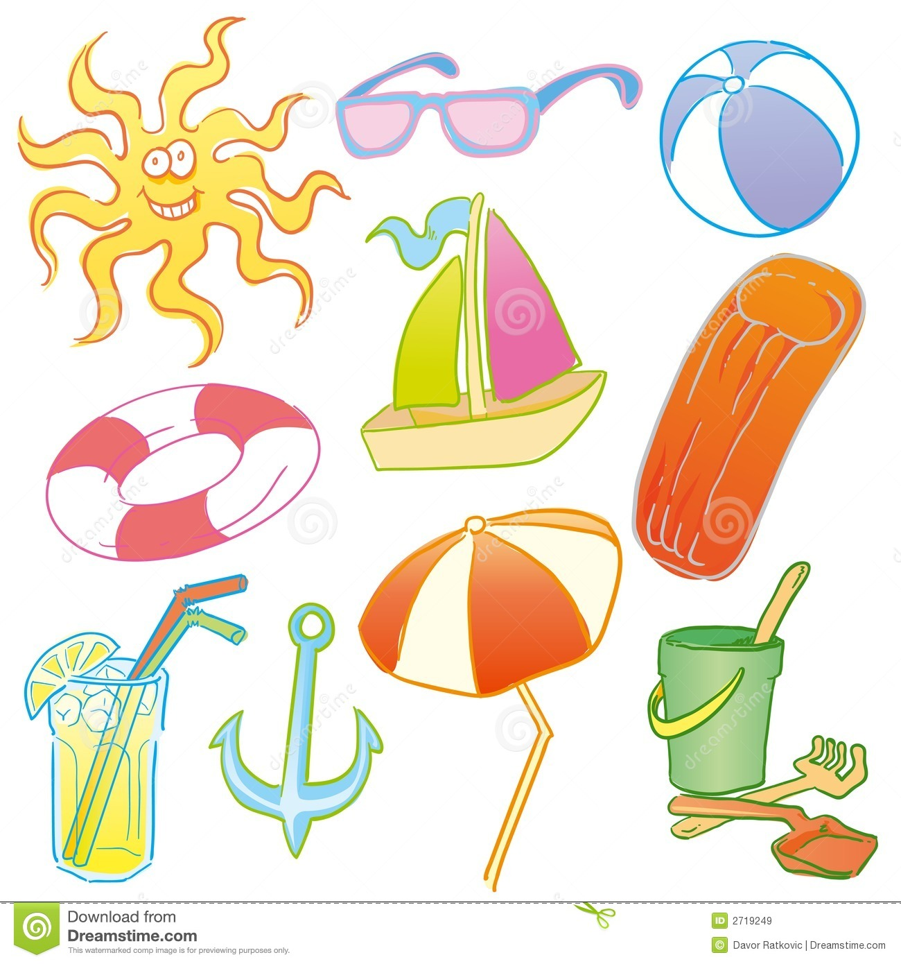 Beach Symbols Royalty Free Stock Images - Image: 2719249
