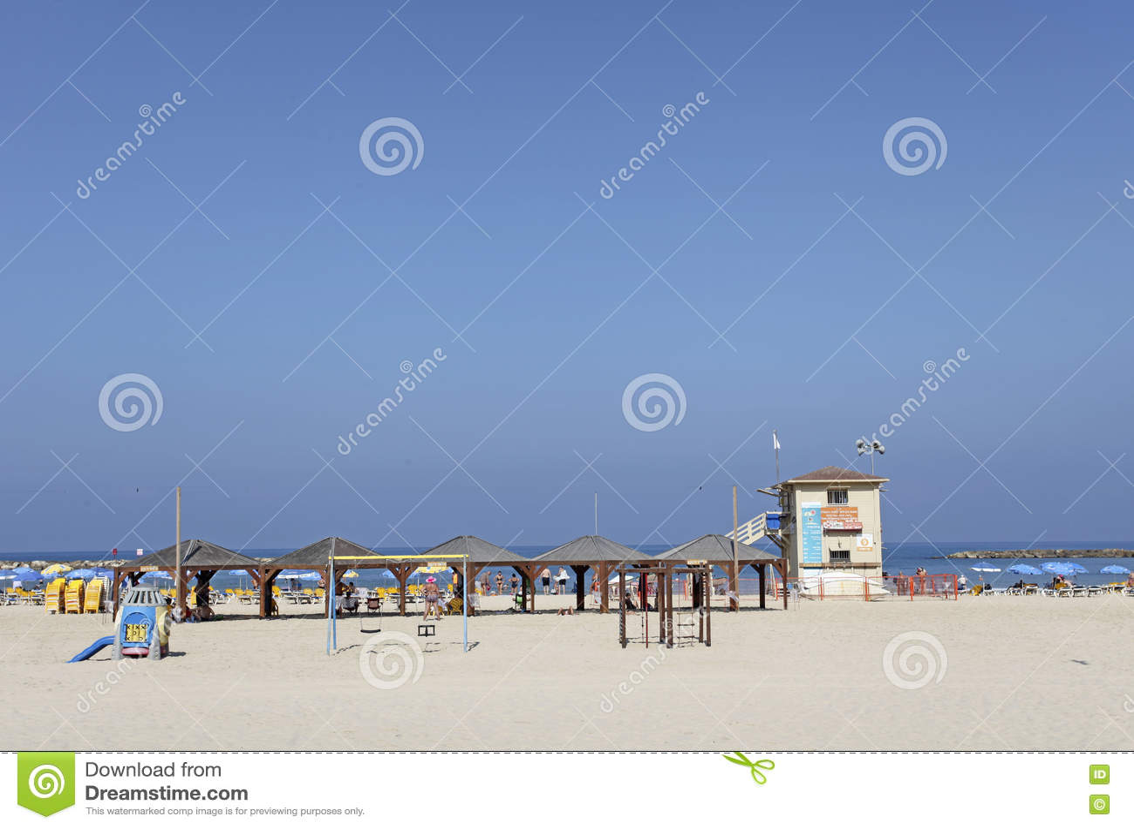 Beach in Tel Aviv, Israel