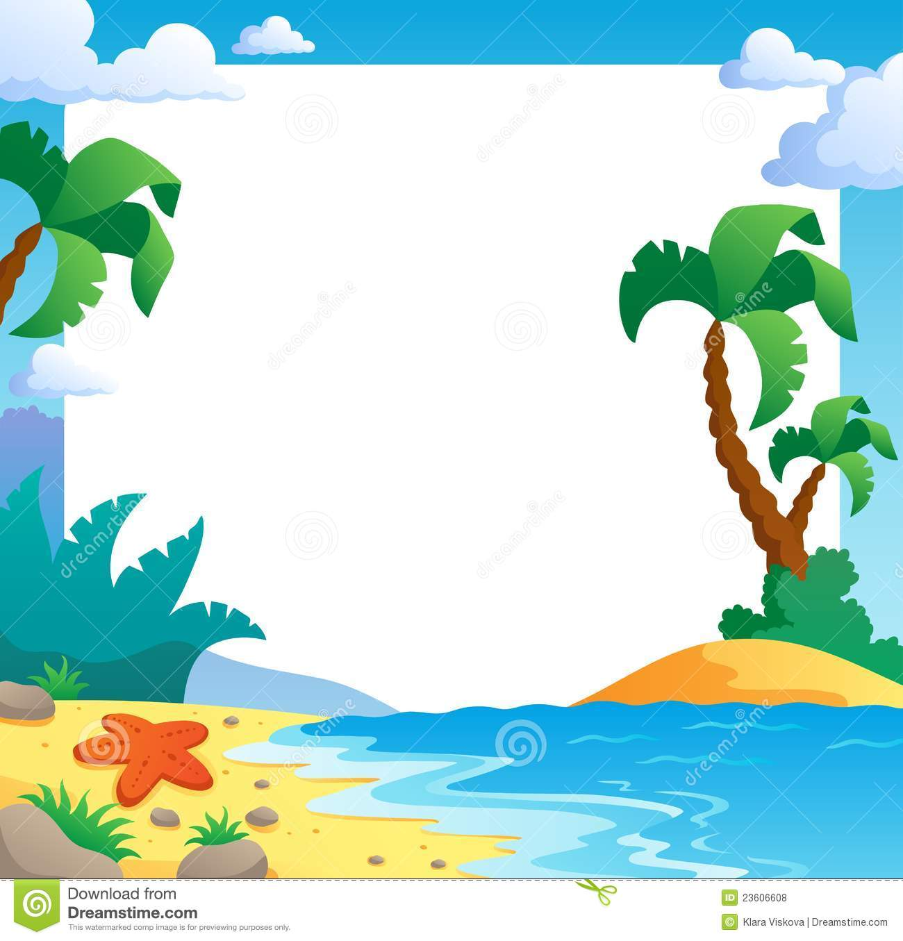 Beach Theme Frame 1 Royalty Free Stock Photos - Image ...