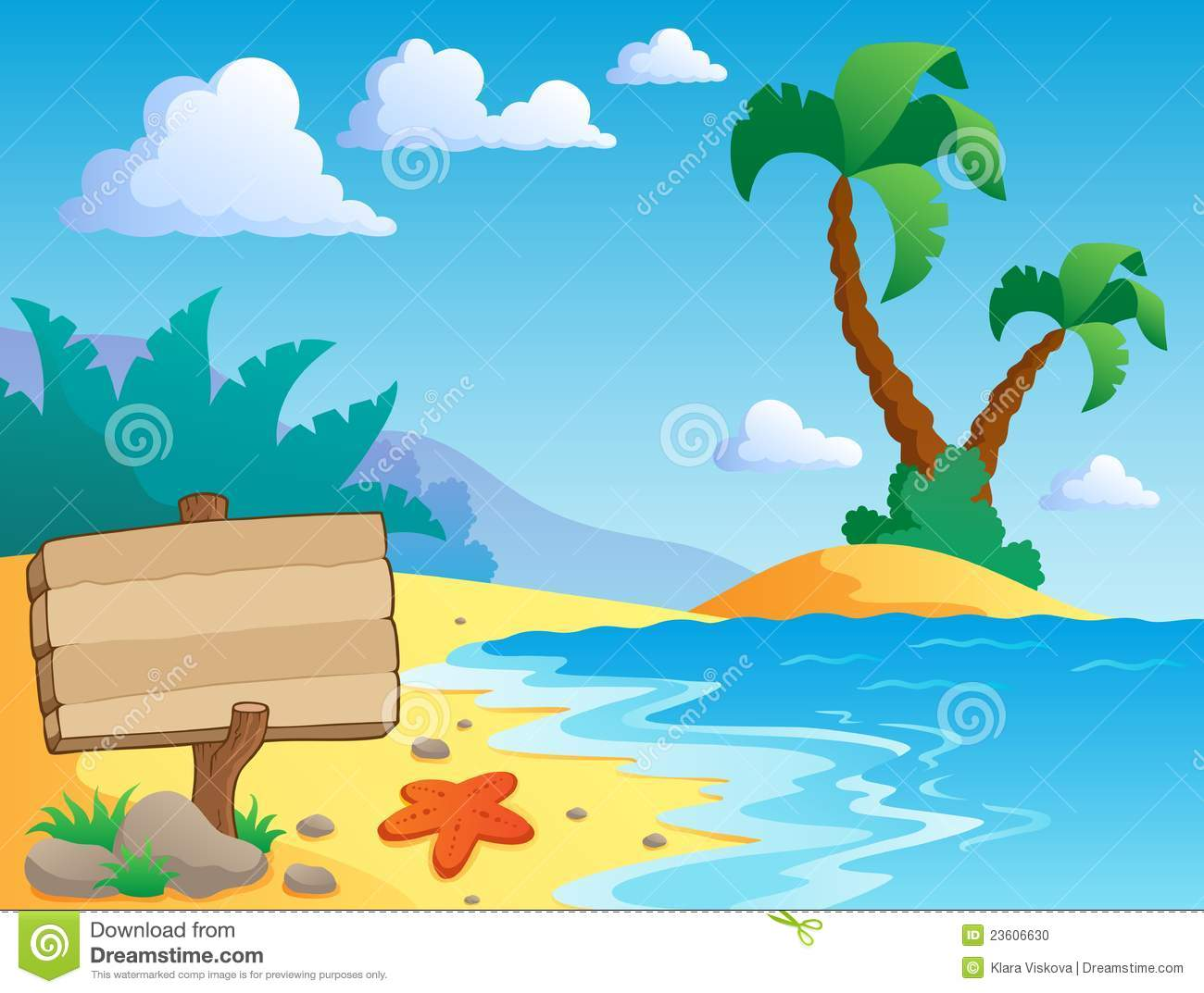 Beach Theme Scenery 2 Stock Photo - Image: 23606630