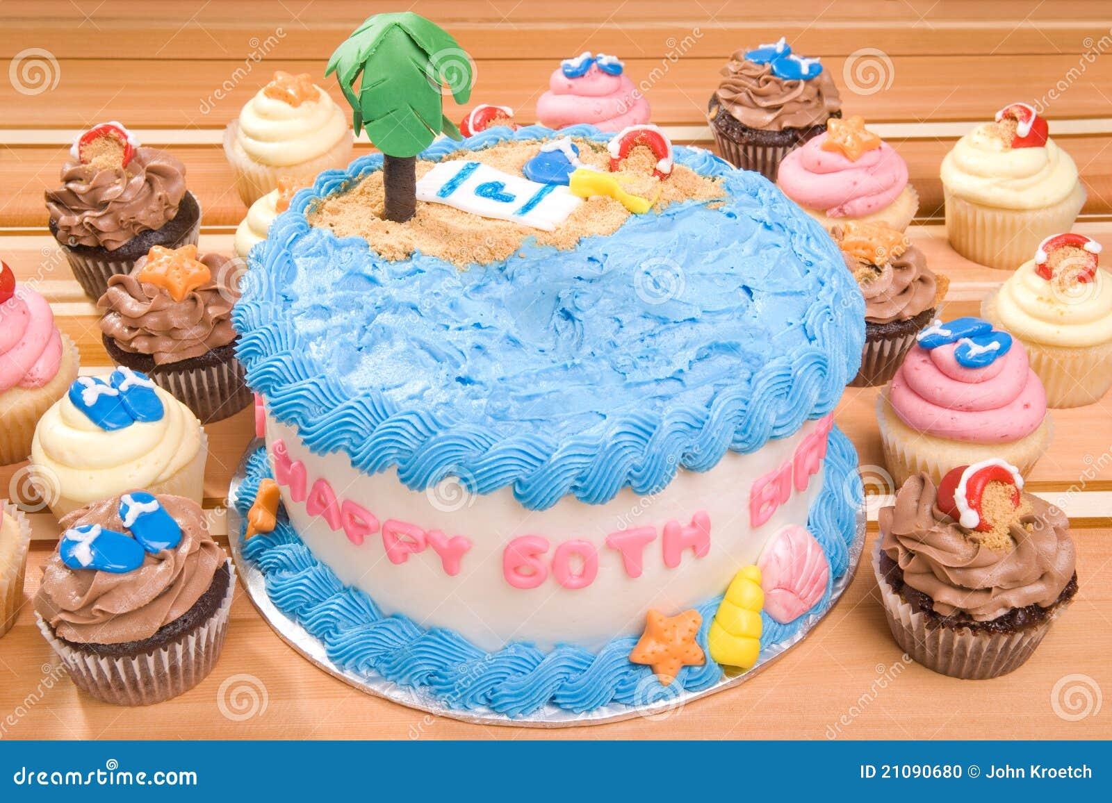 Excellent Beach Themed Birthday Cake Stock Photo Image Of Beach 21090680 Birthday Cards Printable Trancafe Filternl