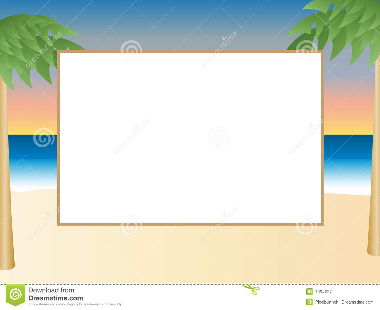 Beach Themed Picture Frame Royalty Free Stock Photography - Image ...