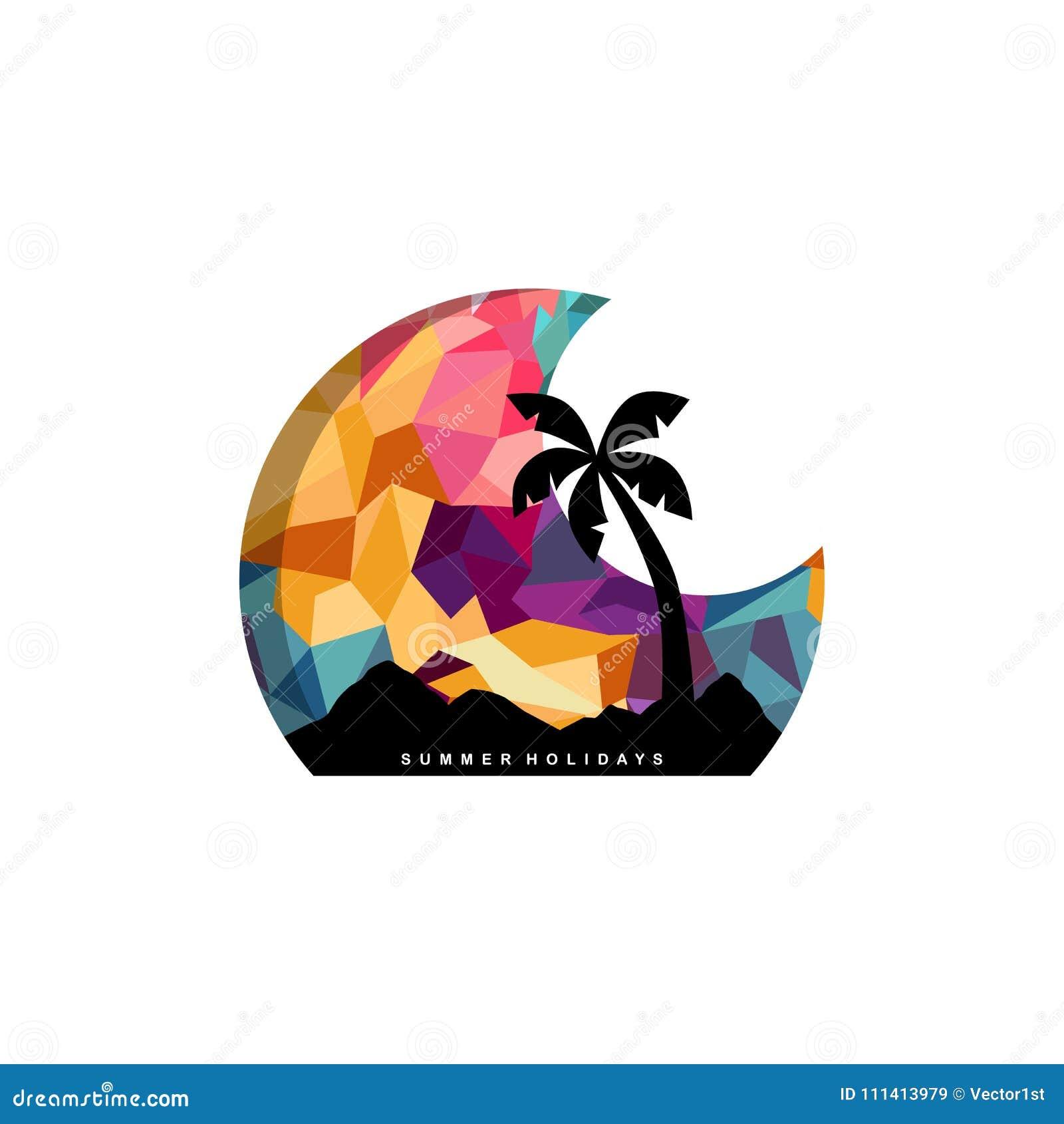 Beach Time Tropical Island Summer Vacation Stock Vector