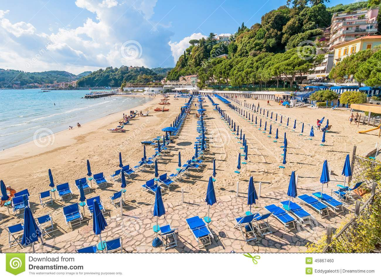 Lerici Italy  city photos : LERICI, ITALY MAY 31, 2014: beach and town of Lerici, Italy. Lerici ...