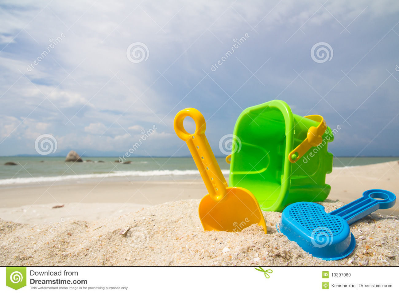 Toys For Beach : Toys at the beach royalty free stock photography