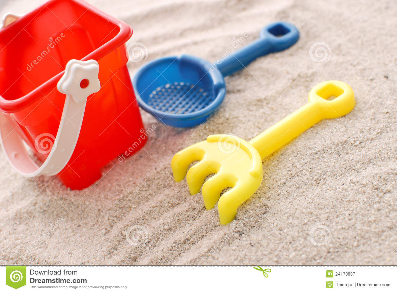 Toys For Beach : Beach toys stock image of pale imagine rake