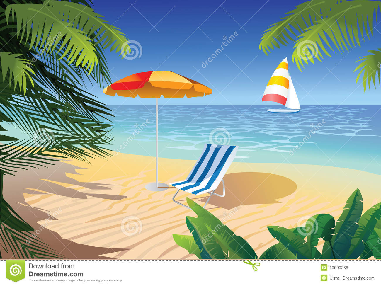 Beach In Tropic Royalty Free Stock Photos Image 10090268