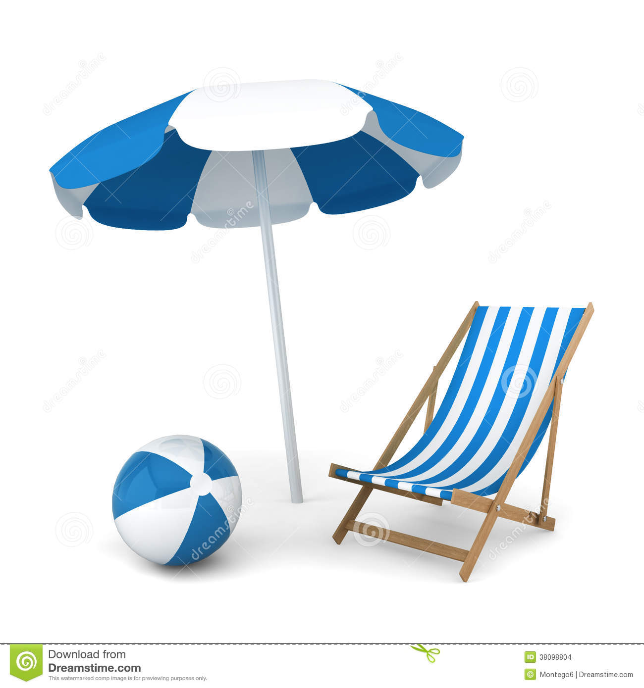 Beach chair and parasol vector illustration stock vector image - Beach Umbrella Chair And Ball Stock Images Image 38098804