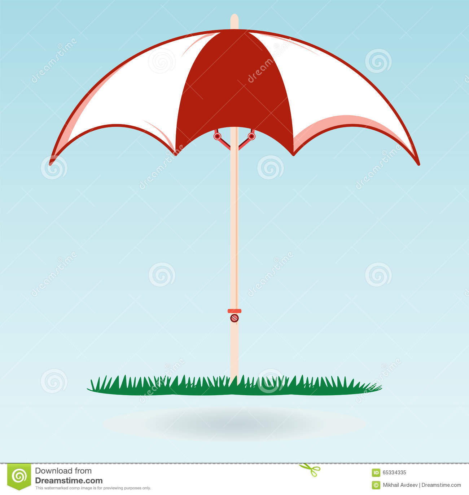 Beach umbrella on the green grass the symbol of the holiday stock beach umbrella on the green grass the symbol of the holiday biocorpaavc Choice Image