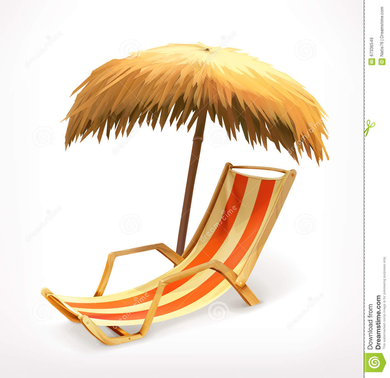 Beach Umbrella And Lounge Chair Vector Image 67336549 – Lounge Chair Umbrella