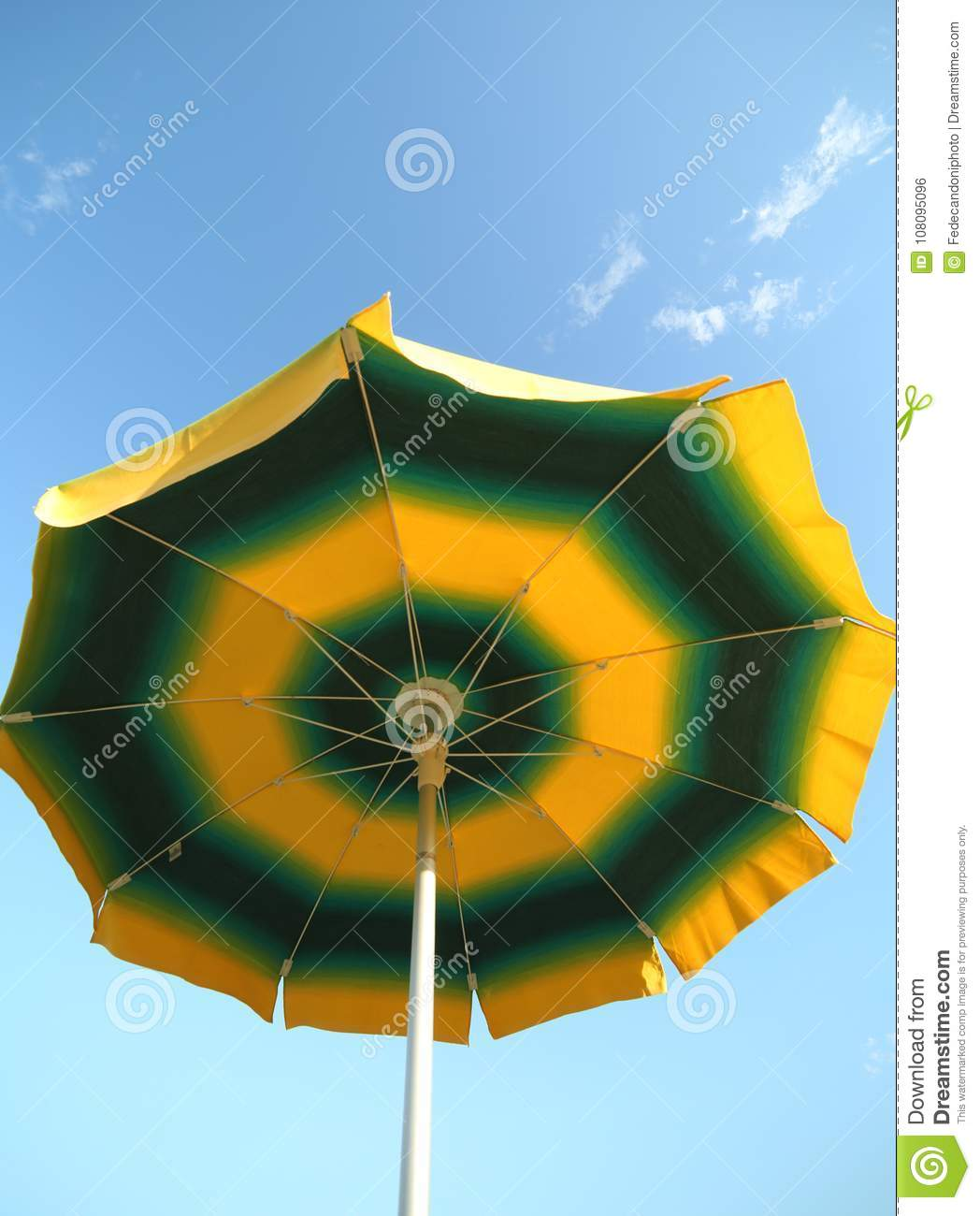 Beach Umbrella P Ographed From Below