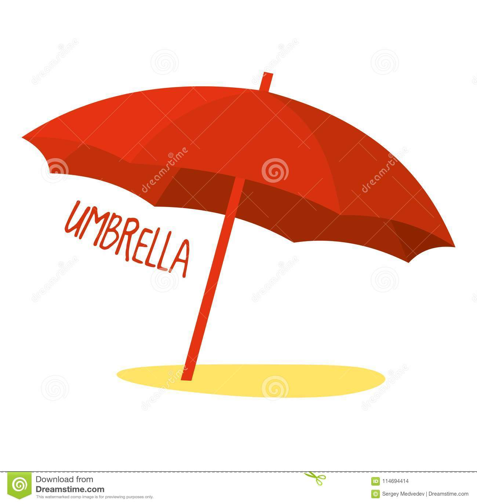 3a29513347 Beach Umbrella In Red Color. Vector Illustration Stock Vector ...