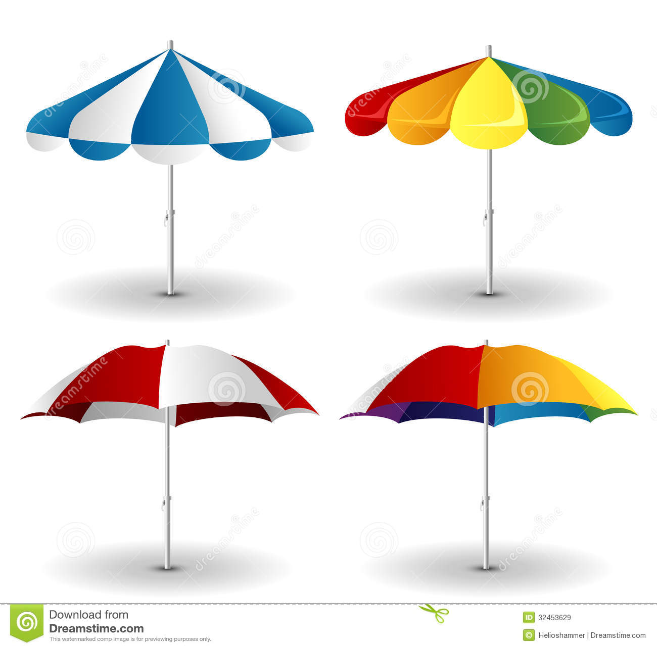 Beach chair and parasol vector illustration stock vector image - Beach Umbrella Set Royalty Free Stock Images Image 32453629
