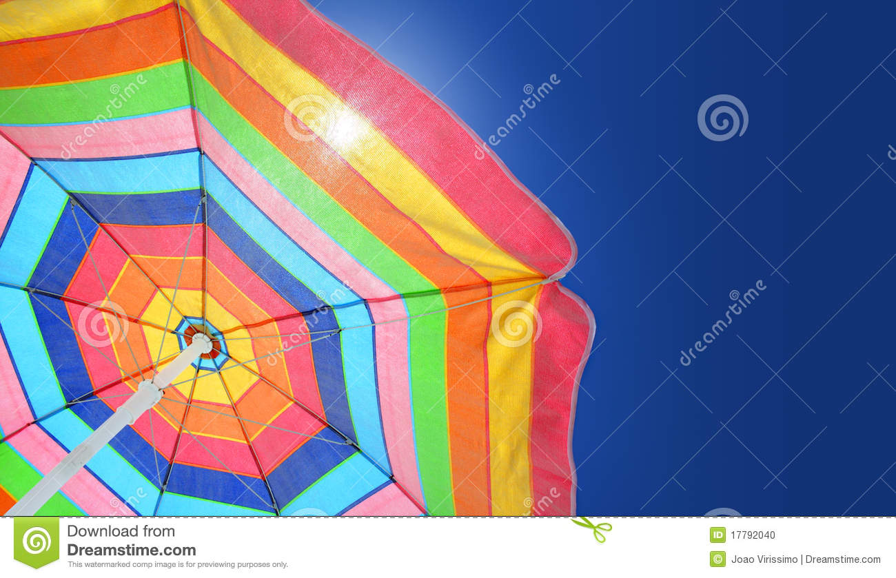 Download Beach Umbrella A On Sunny Summer Day Stock Photo - Image of orange, protection: 17792040