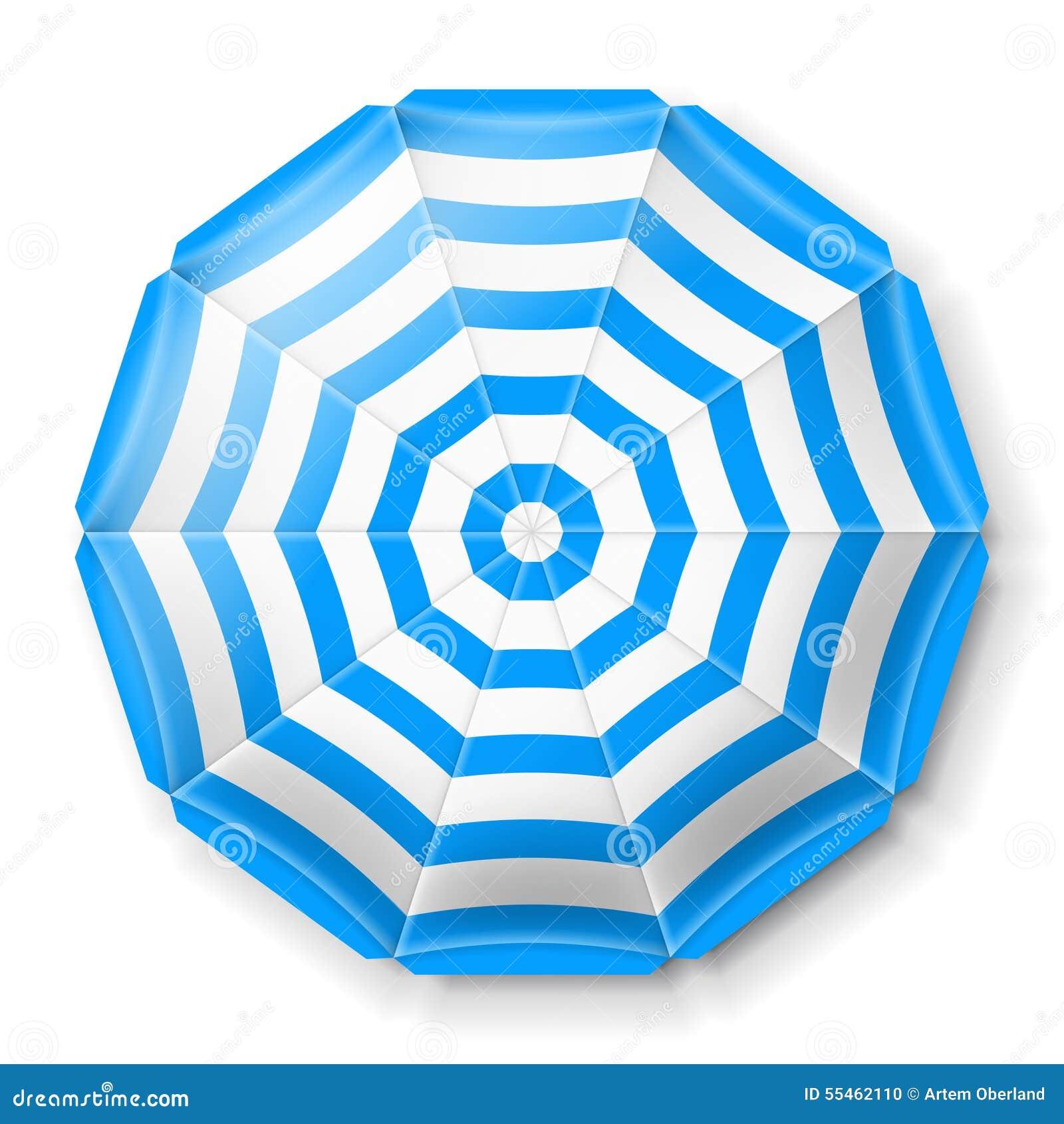 Beach Umbrella Top View Stock Vector Image 55462110