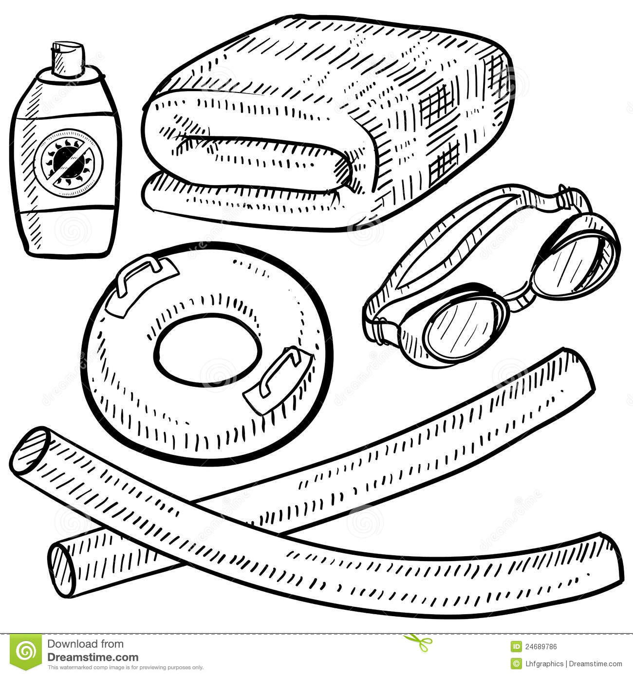 Coloring Pages Of Beach Items