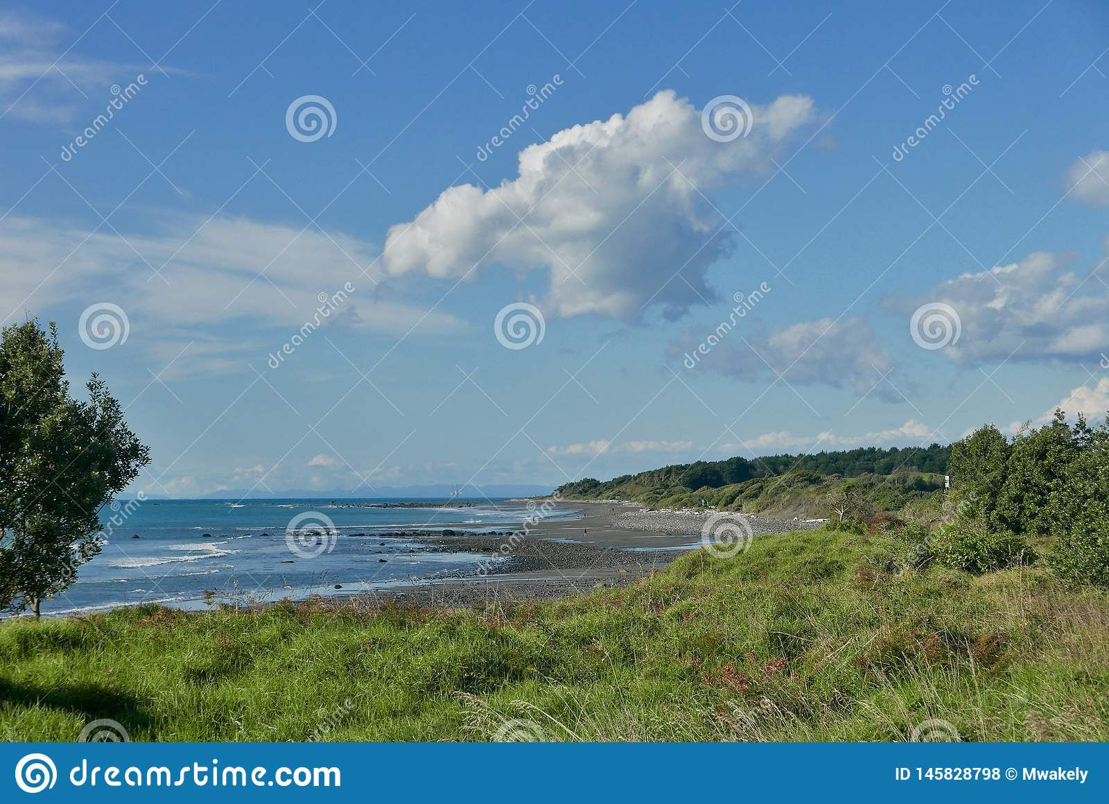 Beach view at Waiwhakaiho