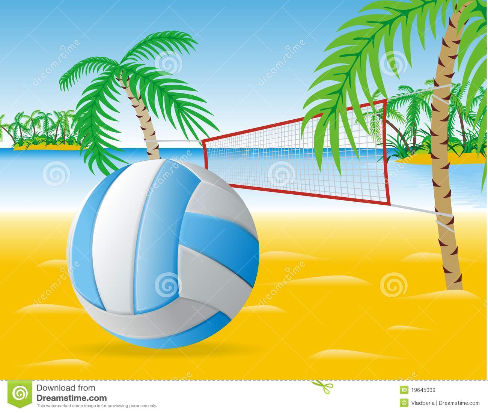 beach volleyball stock vector illustration of team recreation rh dreamstime com Beach Clip Art Beach Ball