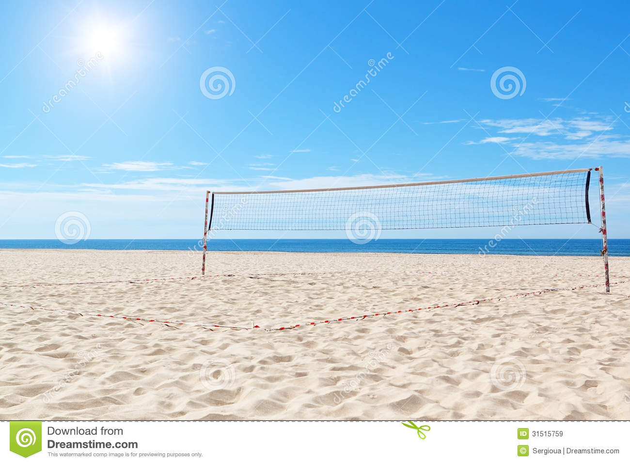 Beach A Volleyball Court At Sea Stock Image Image Of Post Fitness 31515759