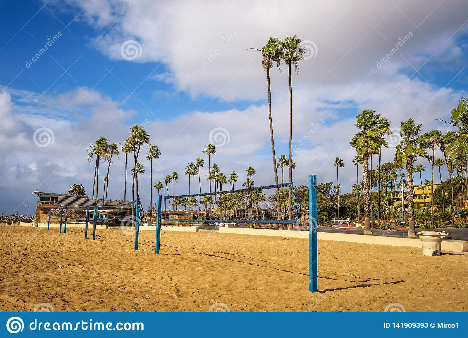 Beach Volleyball Nets On The Corona Del Mar State Beach ...