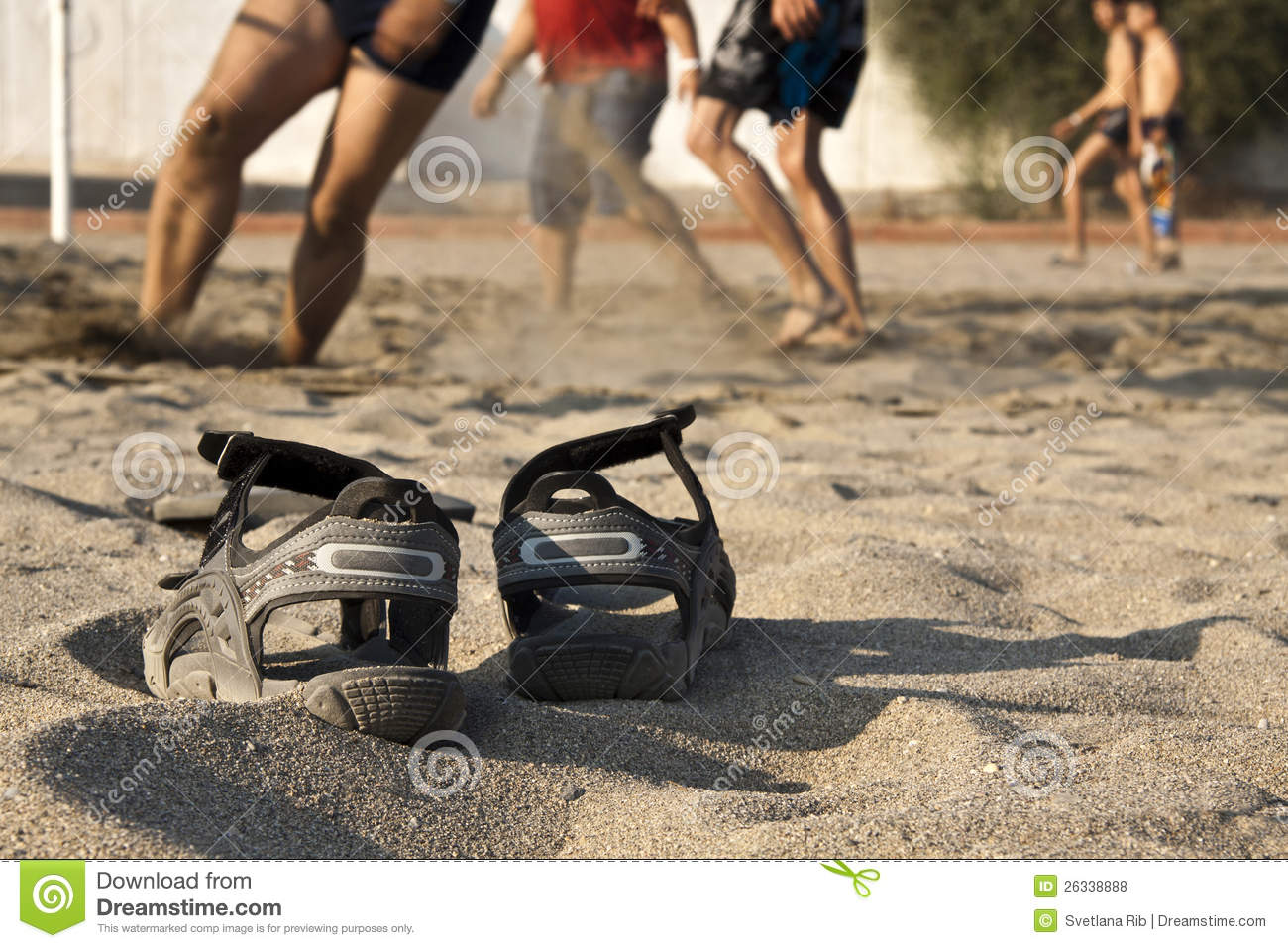 Beach Volleyball, Shoes Royalty Free Stock Photos - Image: 26338888