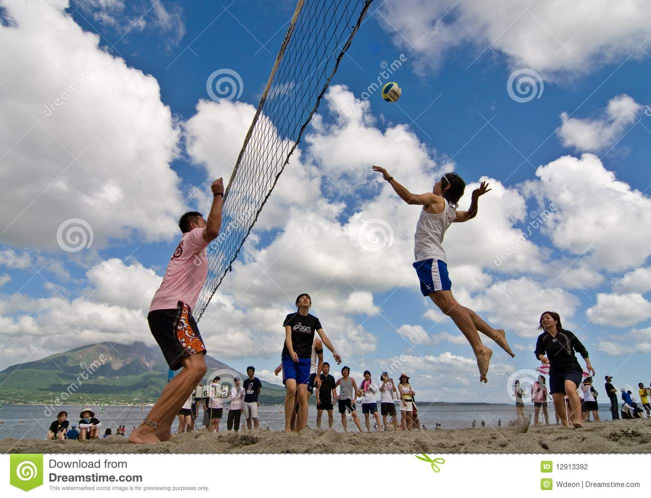 Beach Volleyball Spike Editorial Photography Image Of