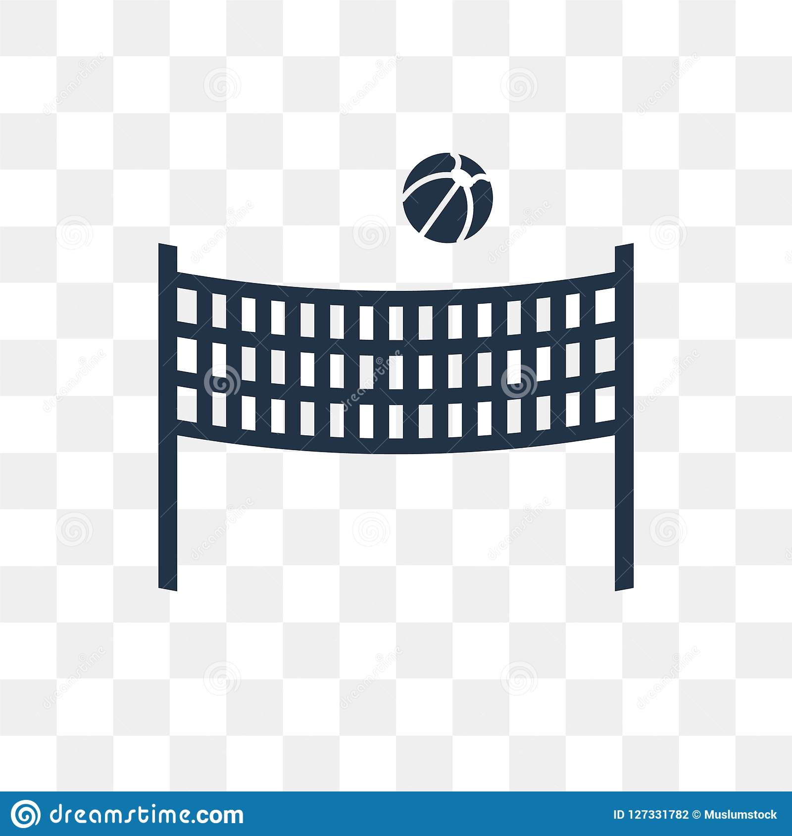 Beach Volleyball Vector Icon Isolated On Transparent Background Beach Volleyball Transparency Concept Can Be Used Web And Mobile Stock Vector Illustration Of Volley Volleyball 127331782